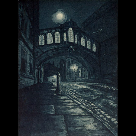 Bridge of Sighs Hertford College Oxford, New college Lane Oxford, Oxford by moonlight, Victorian Oxford